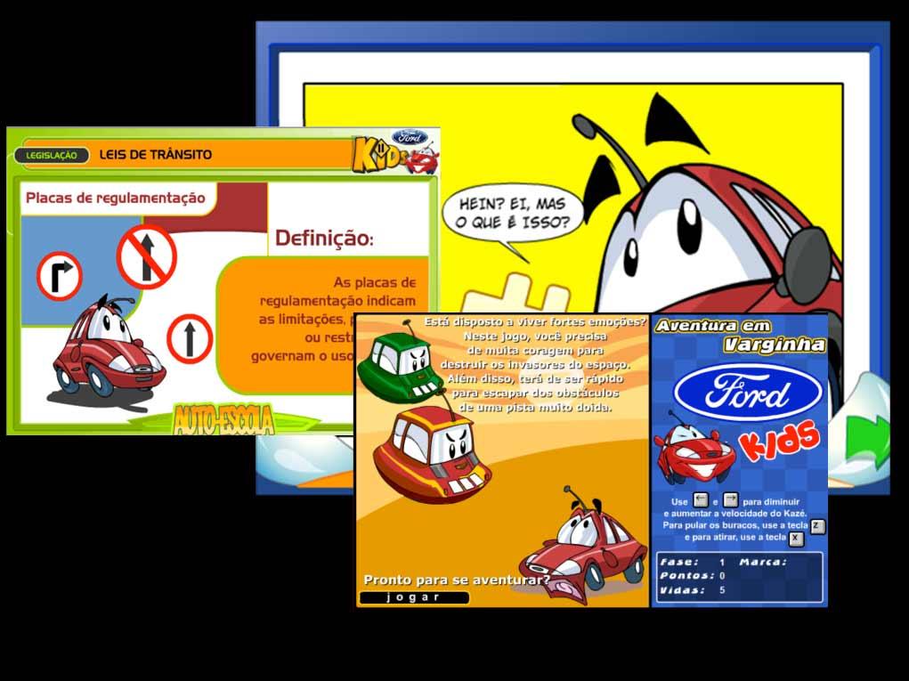 Quadrinhos, jogos e a auto-escola com lições divertidas sobre segurança no trânsito!