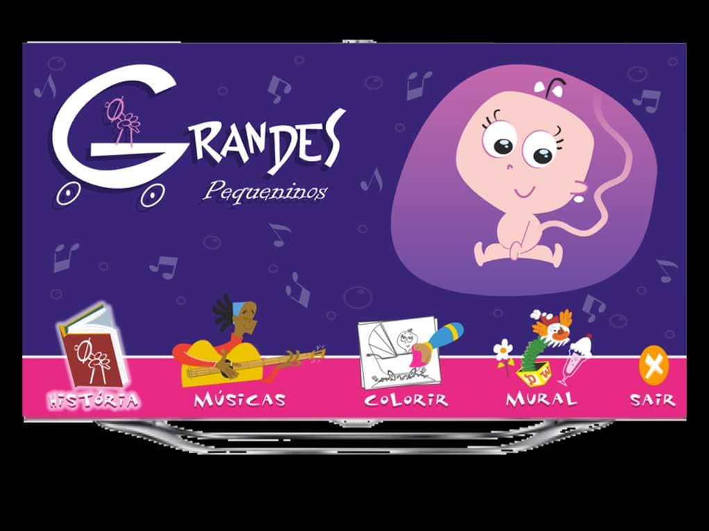 Grandes Pequeninos é um app que conta de forma singela como nascem os bebês, embalado pela belas canções do Jairzinho.