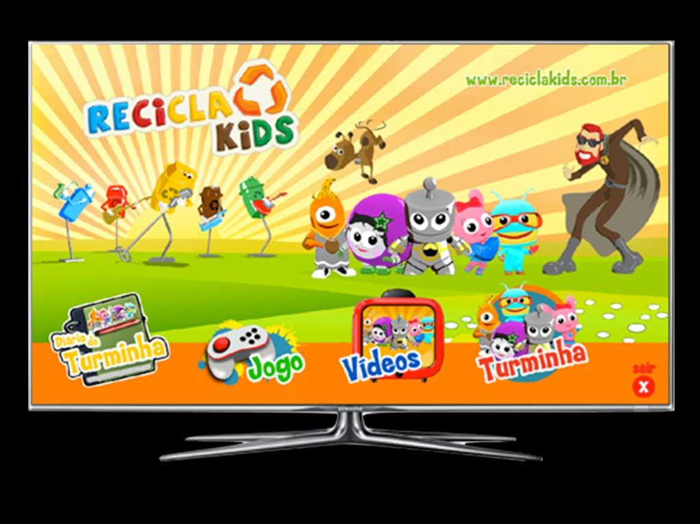 Recicla Kids foi o primeiro aplicativo brasileiro de Smart TV para o público infantil com desenhos animados e muita diversão!
